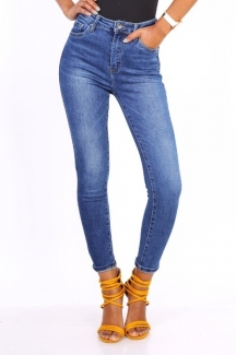 Jeans Blue Hoge Taille