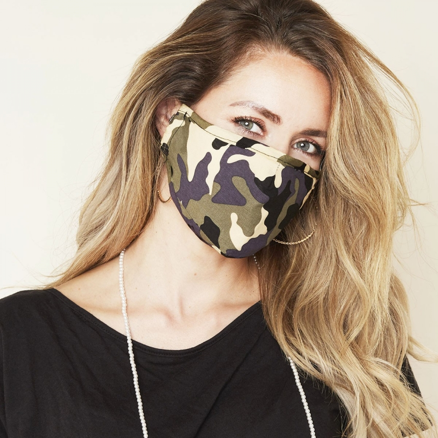 Mondmasker Fashion Legerprint Groen