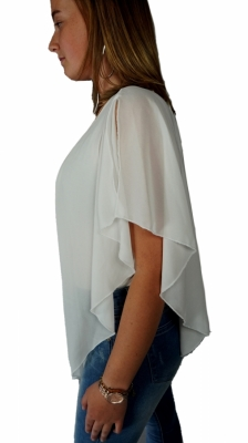Top wit voile