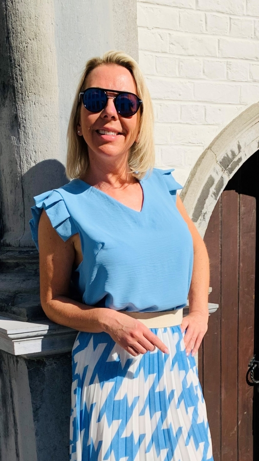 Blouse/Top Blue Terra Di Siena